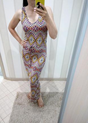 Длинное трикотажное платье, сарафан в пол