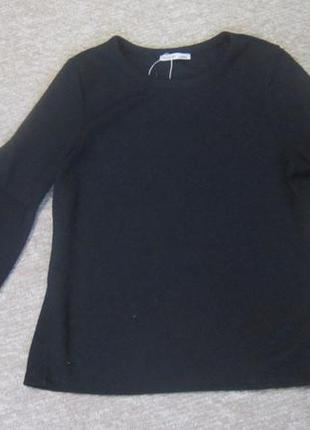 Черная кофта с рукавами фонариками от зара