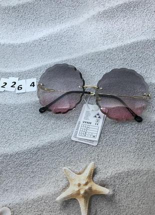 Трендовые круглые солнцезащитные очки к. 2264