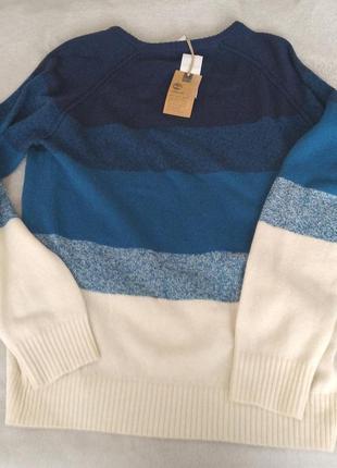 Стильный яркий новый шерстяной теплый свитер timberland джемпе...