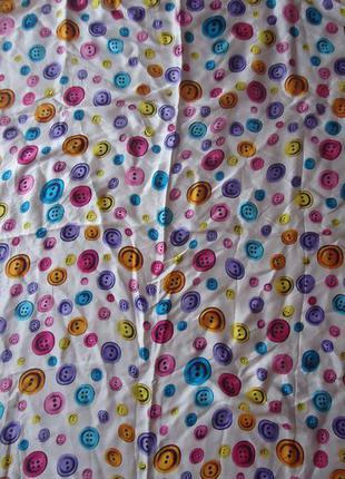 Шелковый платок с пуговицами 88*83