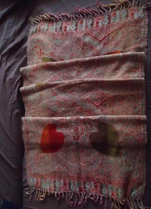 Очаровательный шарф платок с сердечками (полупрозрачные)