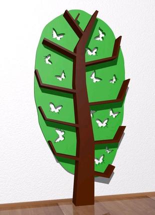Tree Bookshelf, Interior, Полочка в детскую, полка дерево
