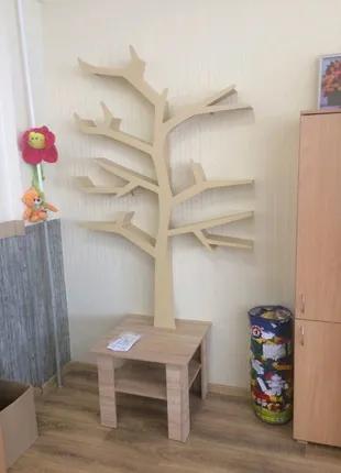 Полка-дерево, Полка для игрушек, Полка для книг
