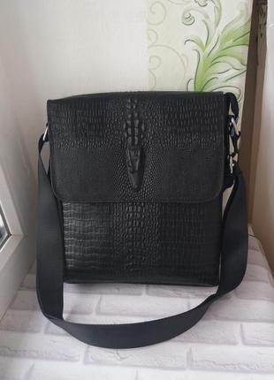 Мужская кожаная сумка шкіряна