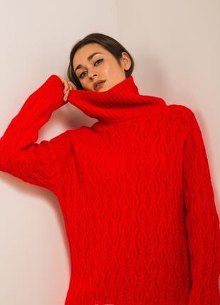 Вязаный женский свитер оверсайз
