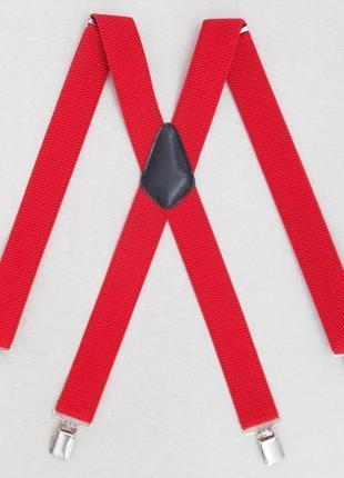 Мужские подтяжки красного цвета (польша)