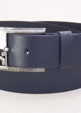 Мужской синий кожаный ремень harley davidson для джинс