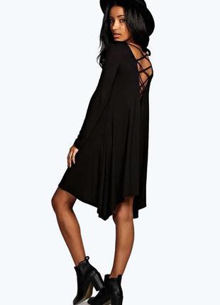Скидка дня! boohoo вискозное асимметричное платье с красивой с...