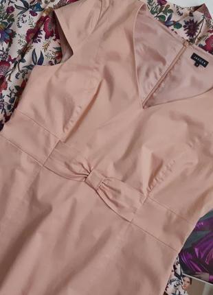 Коттоновое платье миди