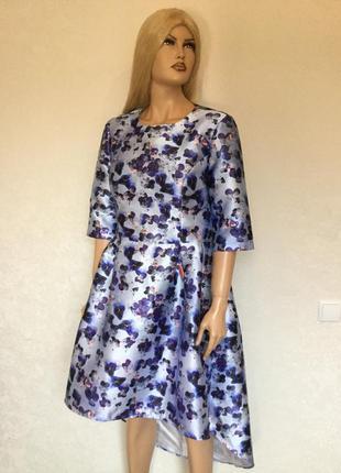 Платье каскадное вечернее выпускное chi chi london размер 16