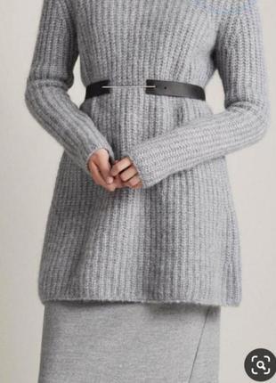 Тёплое платье туника крупной вязки шерсть альпака cos
