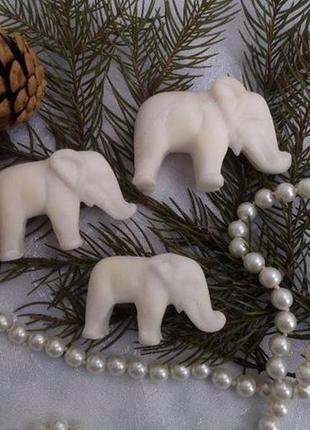 Слоны ссср 3 шт (мрамор) набор статуэткок слоников фигурка вин...