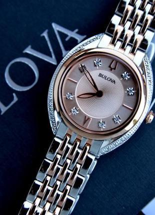 Ббриллианты! женские часы bulova с бриллиантами. новая коллекция!
