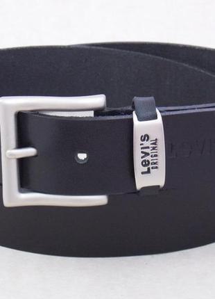 Мужской кожаный ремень для джинс levis