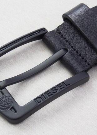 Мужской кожаный ремень diesel с черной пряжкой