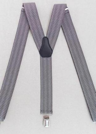Подтяжки мужские бежево-коричневые (польша)