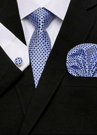 Подарочный мужской набор галстук запонки подарок мужчине