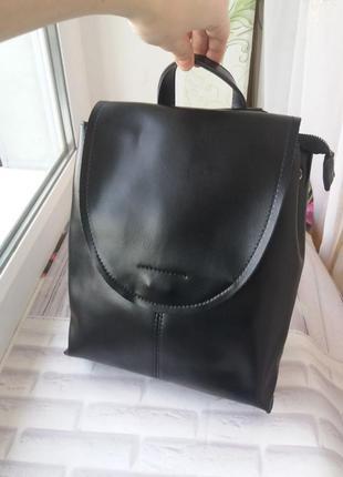 Кожаный рюкзак сумка трансформер шкіряний женский