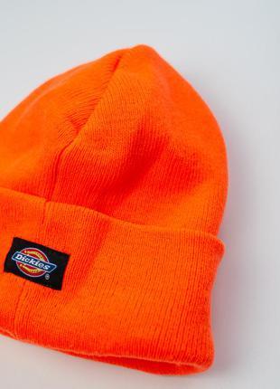 Dickies thinsulate оранжевая неоновая шапка бини с отворотом