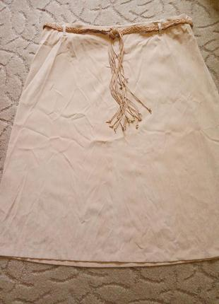 Красивая юбка с плетёным поясом большой размер 64-66-68-70 ess...
