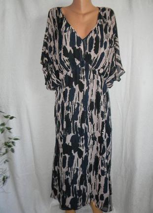 Шифоновое платье большого размера