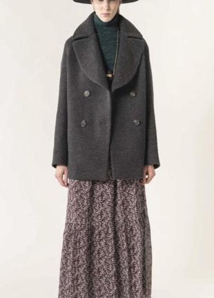 Пальто шерстяное эксклюзив свободный крой vanessa bruno размер...