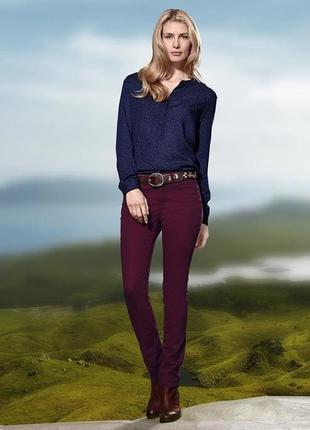 Женские джинсы цвет марсала tcm tchibo германия на наш 46-48