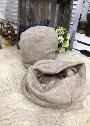 Модный набор шапка и снуд.