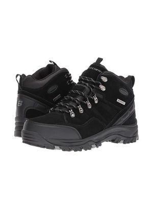 Skechers ●30,5-31см● кожаные, водонепроницаемые ботинки из сша...