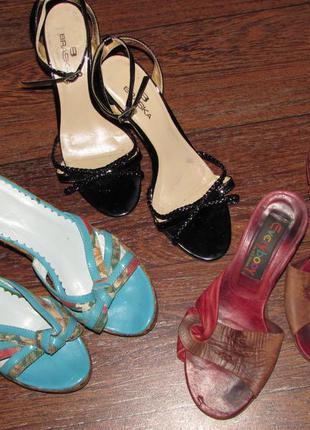 Пакет обуви 3 пары босоножек 35-36 р-ра