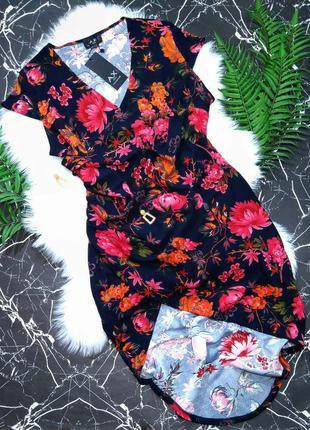 Каскадное платье на запах ax paris /скида к концу месяца/