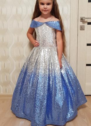 Бальное платье девочке на 10 лет. Выпускное платье.