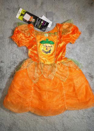 Карнавальный костюм, платье тыква george. новое! 3-4 года