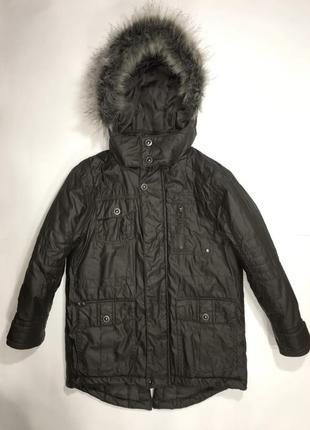 Фирменная куртка парка мальчику bluezoo, 7-8 лет