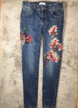 Модные женские джинсы с вышивкой myhailys, xs-s