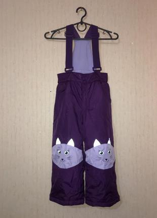 Полукомбинезон штаны зимние девочке kiki&koko, размер 110