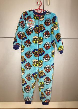 Слип пижама костюм щенячий патруль, 3-4 года