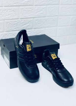 Кроссовки adidas 350 black мужские кожаные