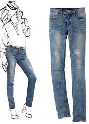 Моделирующие джинсы tcm tchibo германия размер евро 42 на наш 48