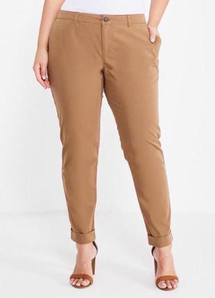 Большой размер брюки бежевые  летние