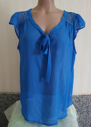 Новая нежная шифоновая блузка большого размера