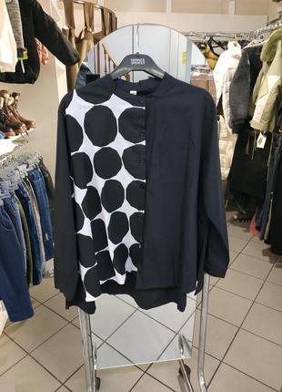 Оригинальна блузка рубашка свободного кроя