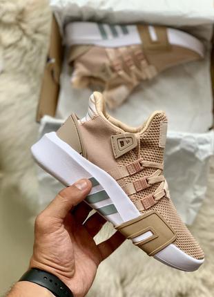Adidas eqt basketball adv pink white шикарные женские кроссовк...