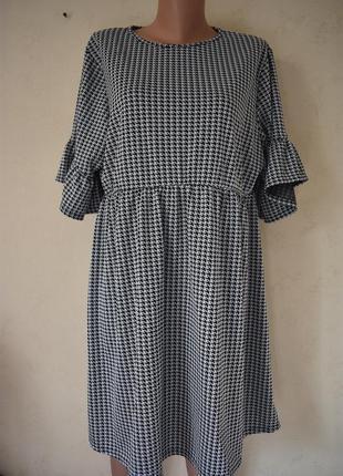 Платье с принтом большого размера boohoo