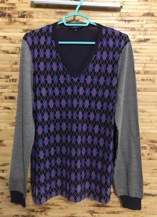 Мужской брендовый люксовый свитер пуловер gucci