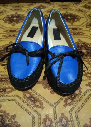 Кожаные туфли real rubber
