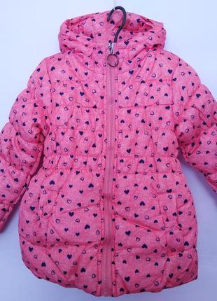 Утепленная демисезонная куртка для девочки, р. 86-116