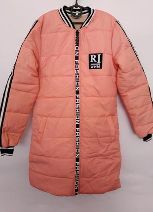 Утепленная демисезонная куртка-пальто для девочки, р. 158-164