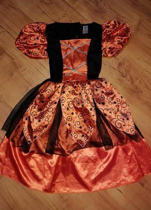 Карнавальное платье на хэллоуин на 9-10 лет